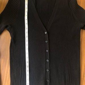 H&M Black Cardigan with vertical ribbing